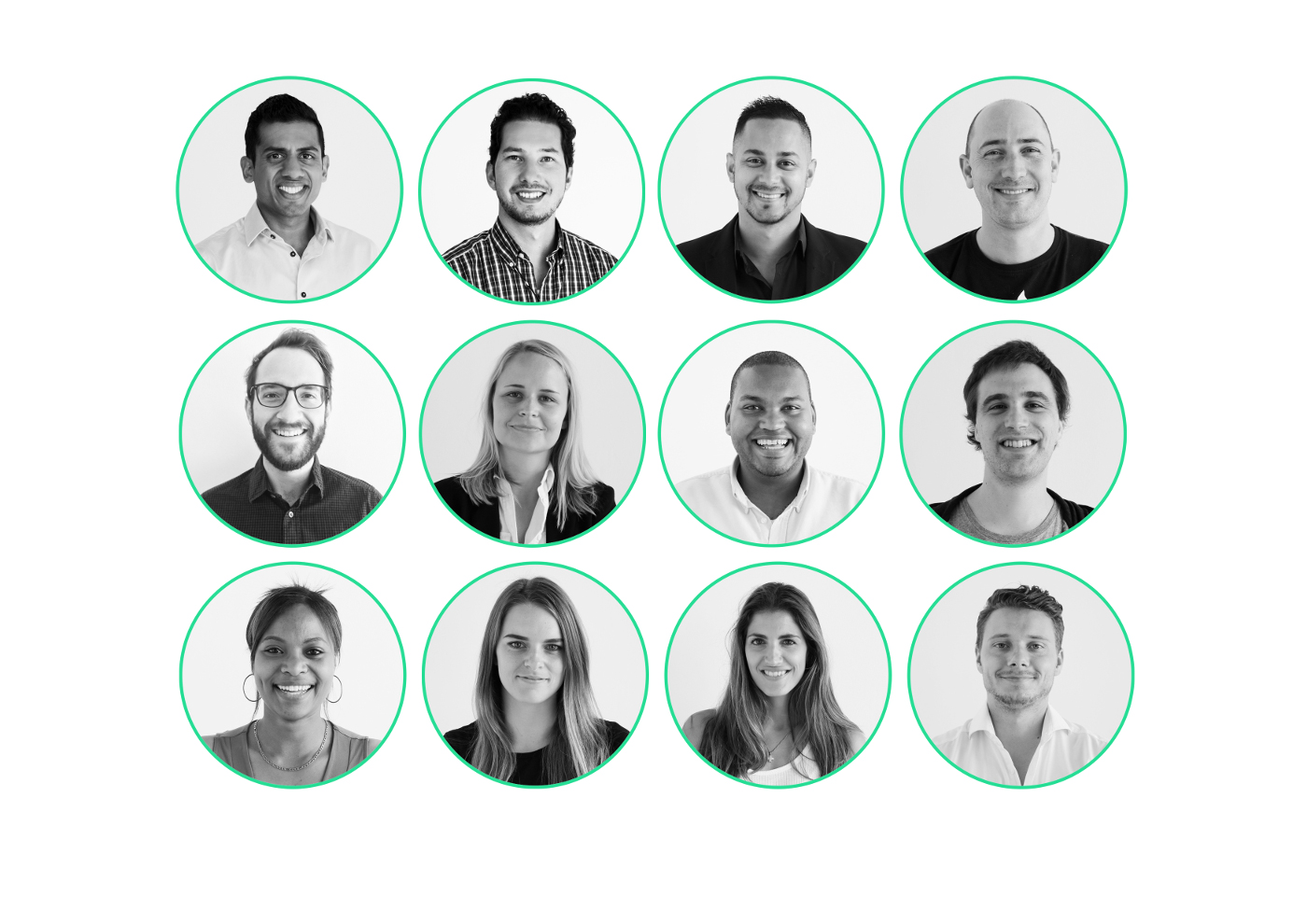Photos of RecoMed team members.